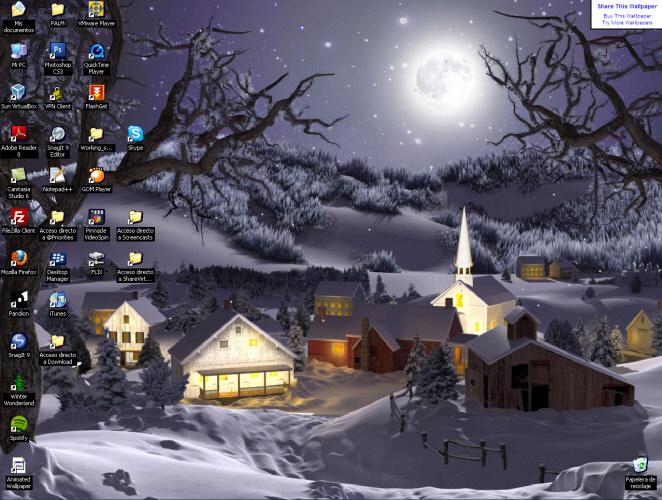 3D Winter Wonderland Animated Wallpaper   Download 662x500