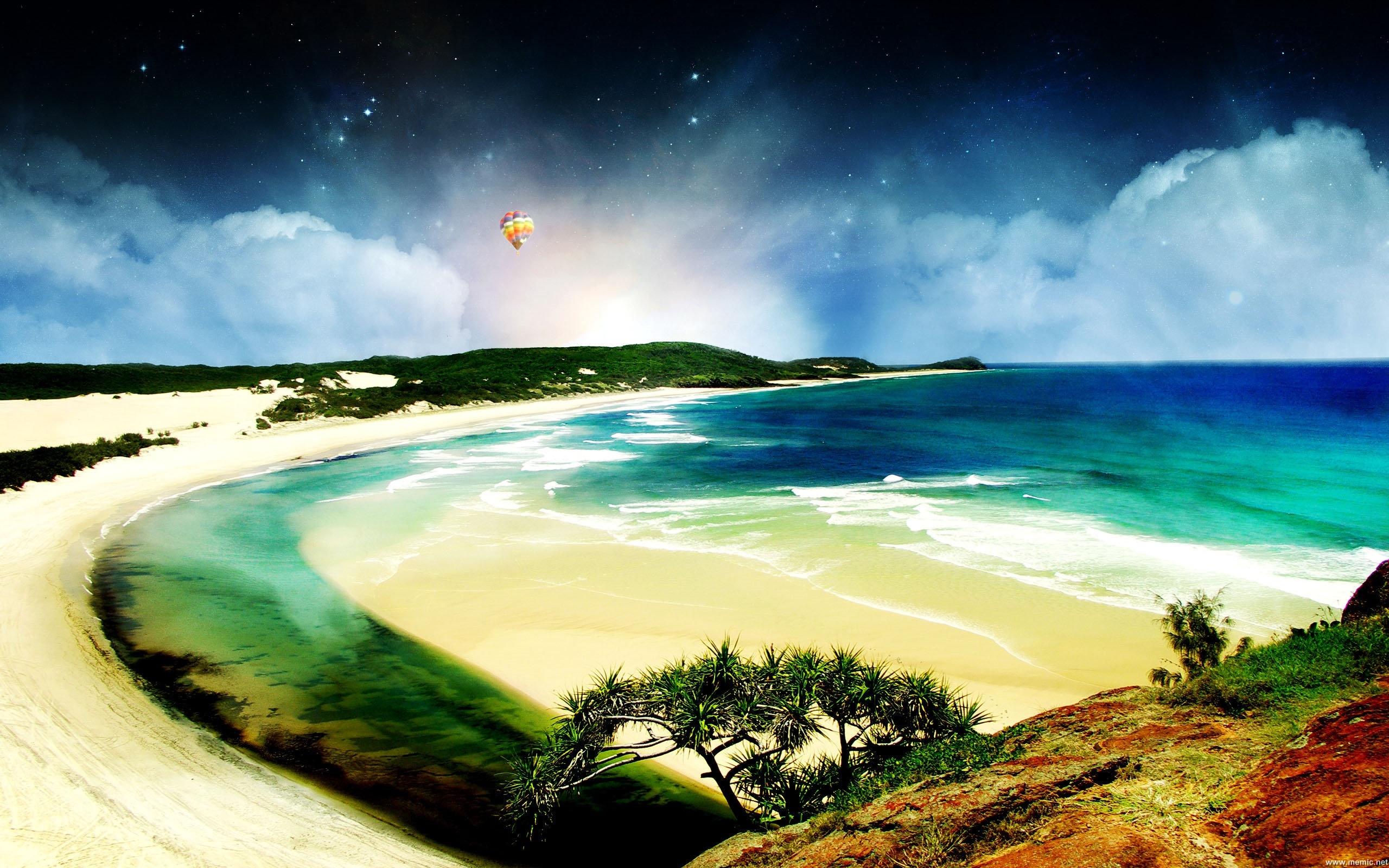 Per visualizzare lo sfondo di mare cielo isola in dimensioni intere 2560x1600