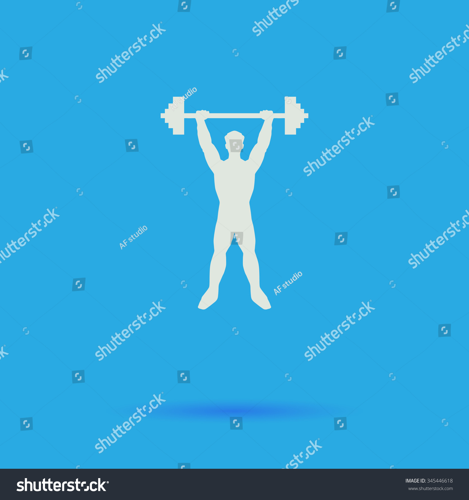 Strongman White Flat Vector Simple Icon Stock Vector Royalty 1500x1600