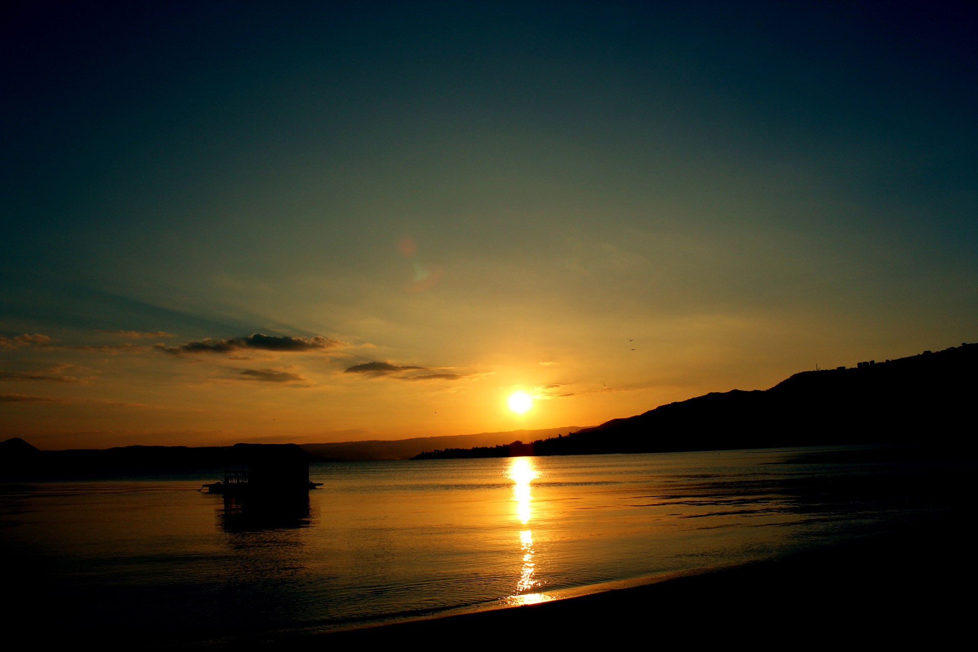 Beach At Beautiful Sunset Nature Background Royalty Free ospEUfRu