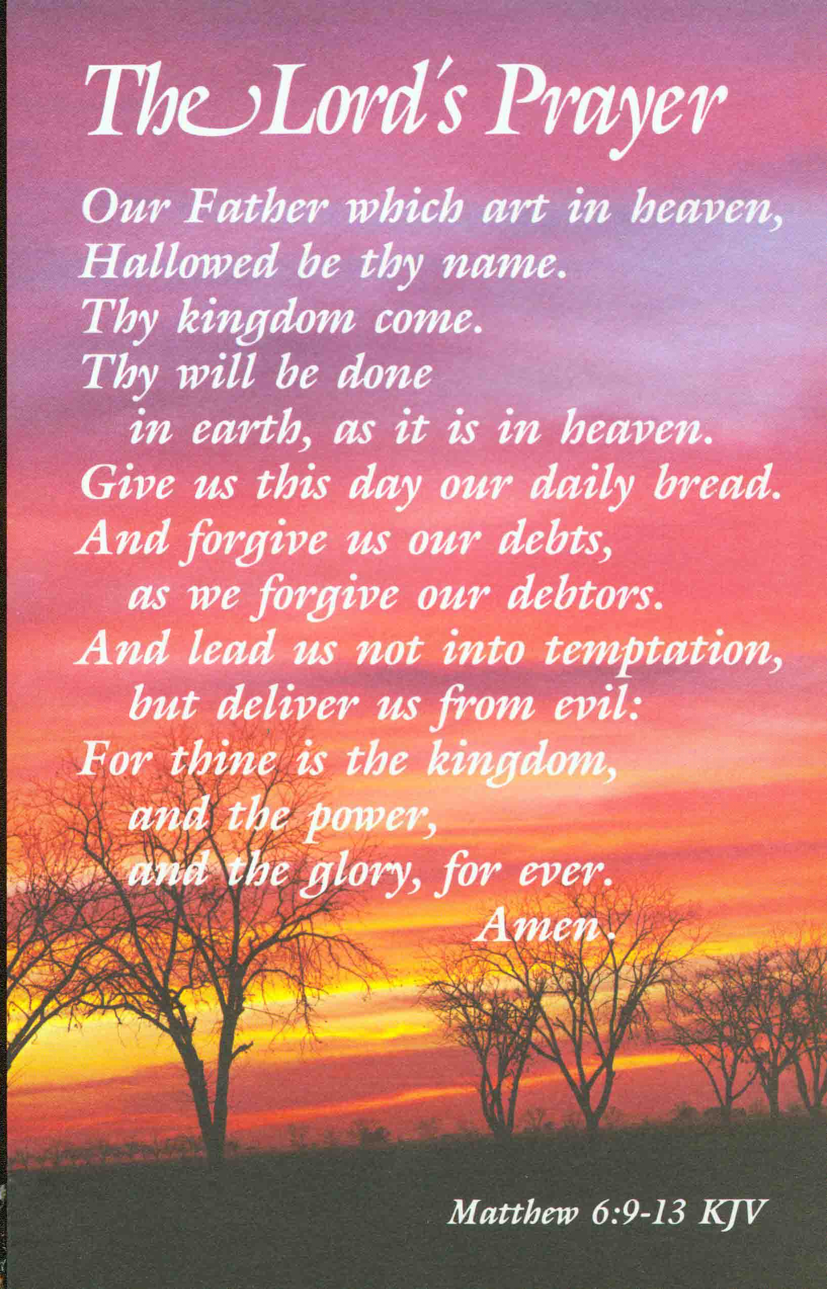 the lords prayer iphone - photo #48