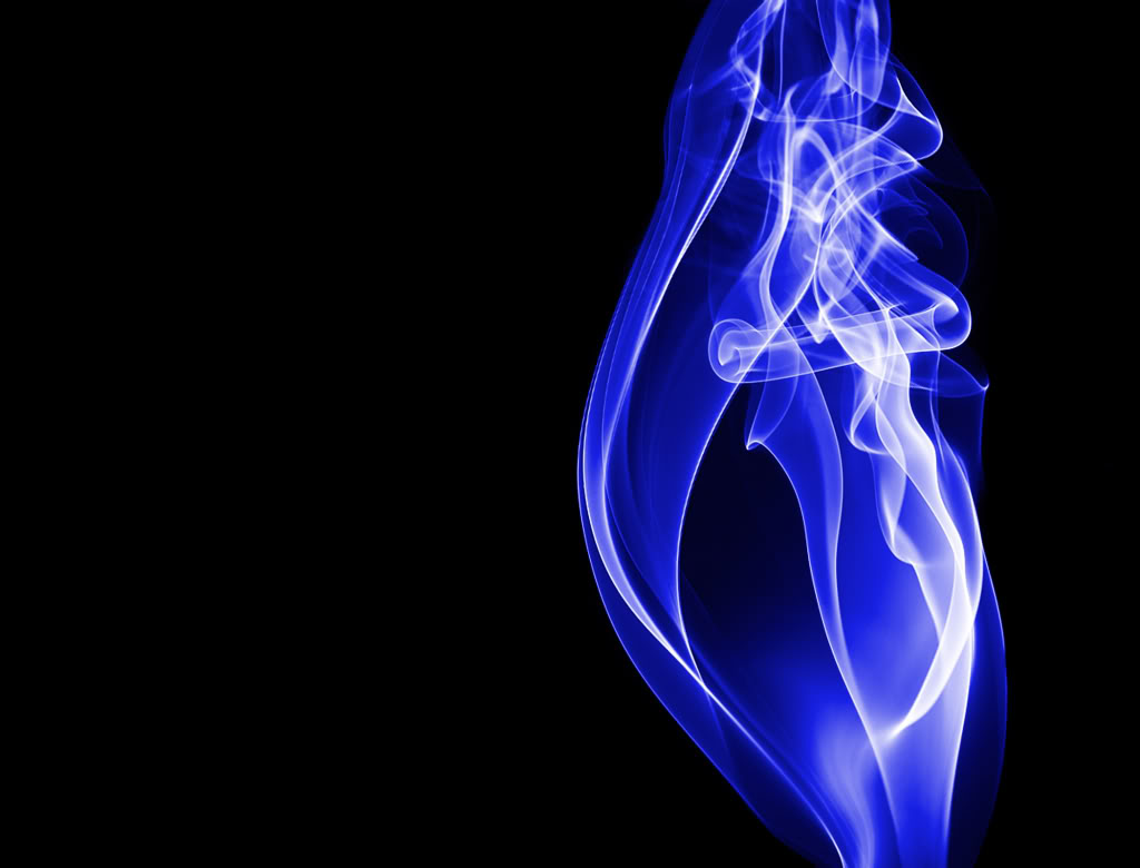 Blue Smoke Wallpaper 1024x780