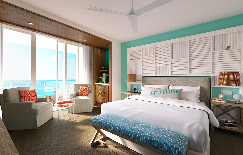 Wallpaper Hollywood bedroom resort ocean view Margaritaville 1332x850