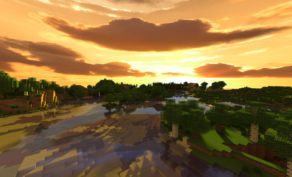 1023x620px Minecraft Shaders Wallpaper