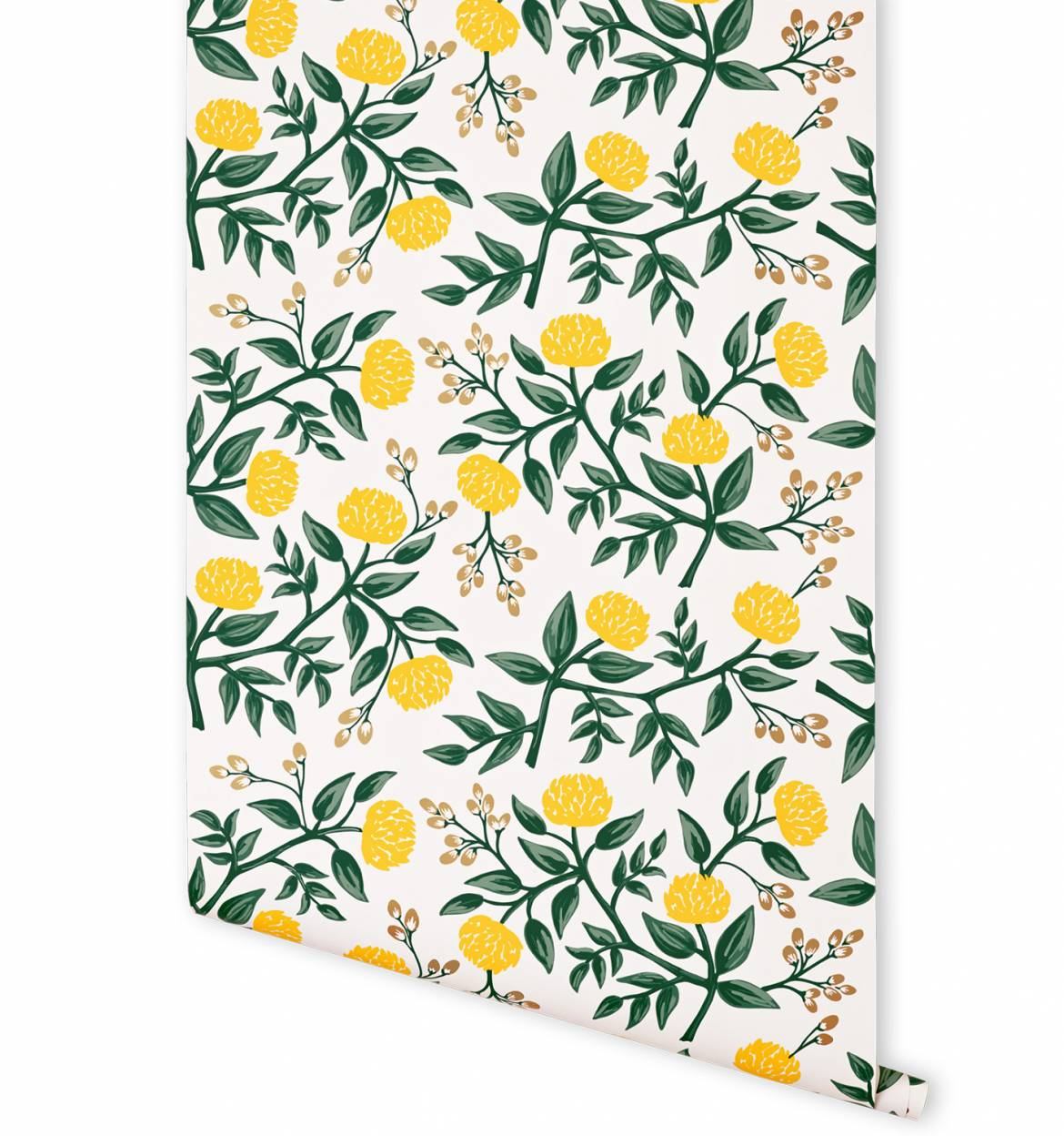 Peonies Yellow Wallpaper by RIFLE PAPER Co Made in USA 1170x1248