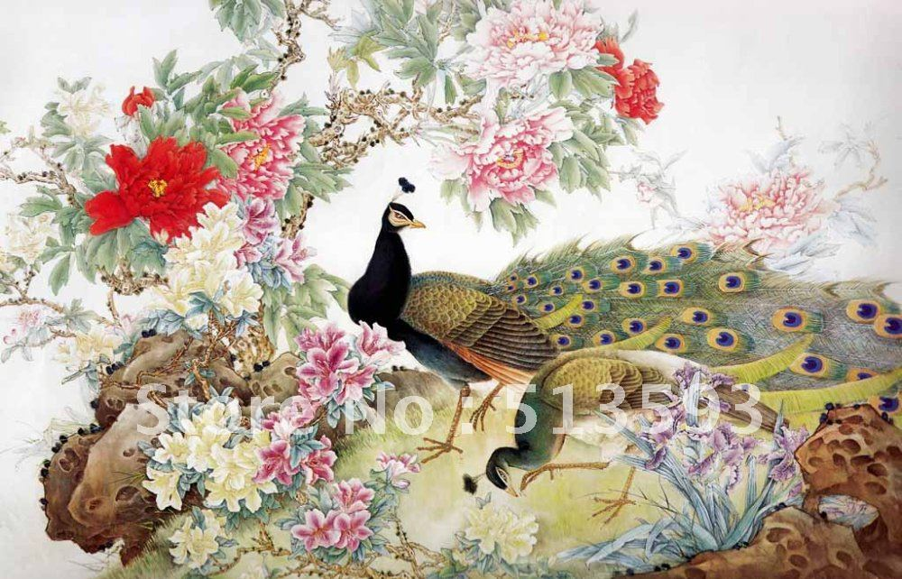 traditional chinese painting wall murals Picture in Wallpapers from 1000x642