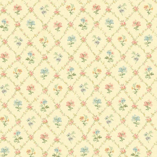 522 30805 Yellow Mini Floral Trellis   Fairwinds Studio Wallpaper 600x600