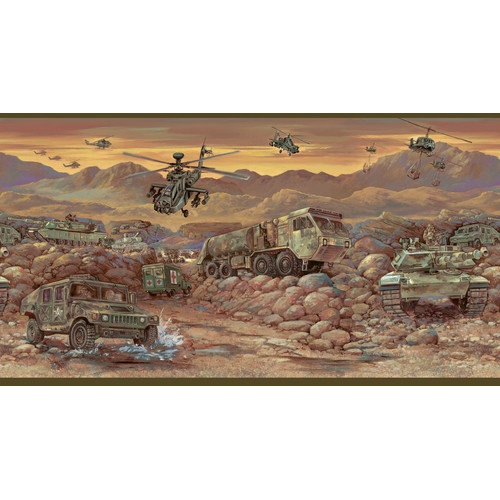 by Chesapeake Hoorah Mash Unit Portrait Scenic Border Wallpaper 500x500