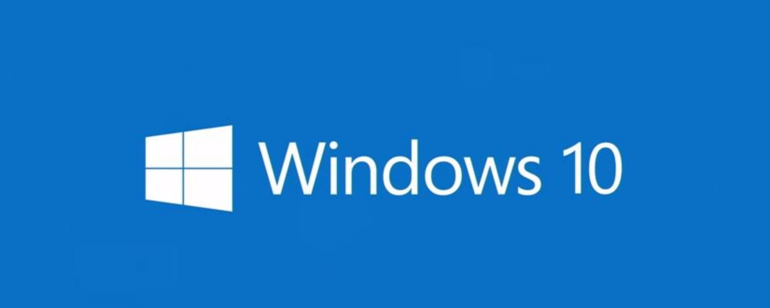 2560x1024 Wallpaper windows 10 technical preview windows 10 logo 2560x1024