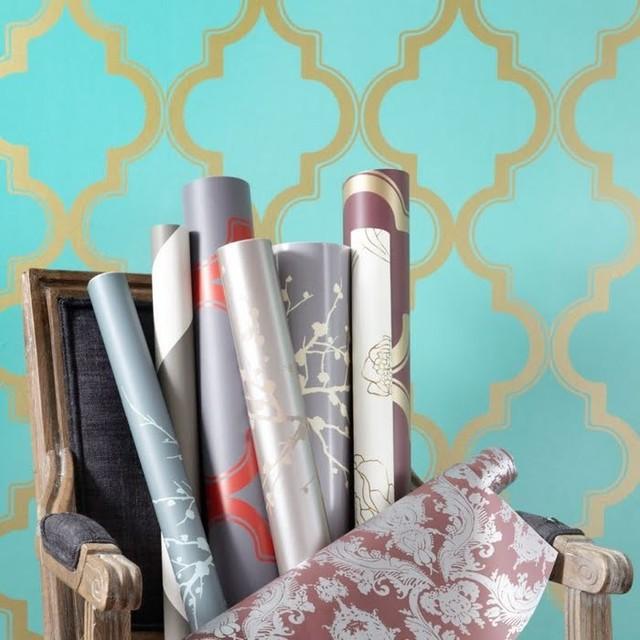Tempaper Marrakesh Removable Wallpaper Honey Jade   Contemporary 640x640