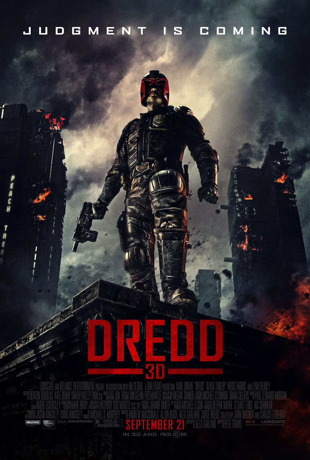 Dredd 3D Movie Poster HD WallpapersImage to Wallpaper 1080x1600