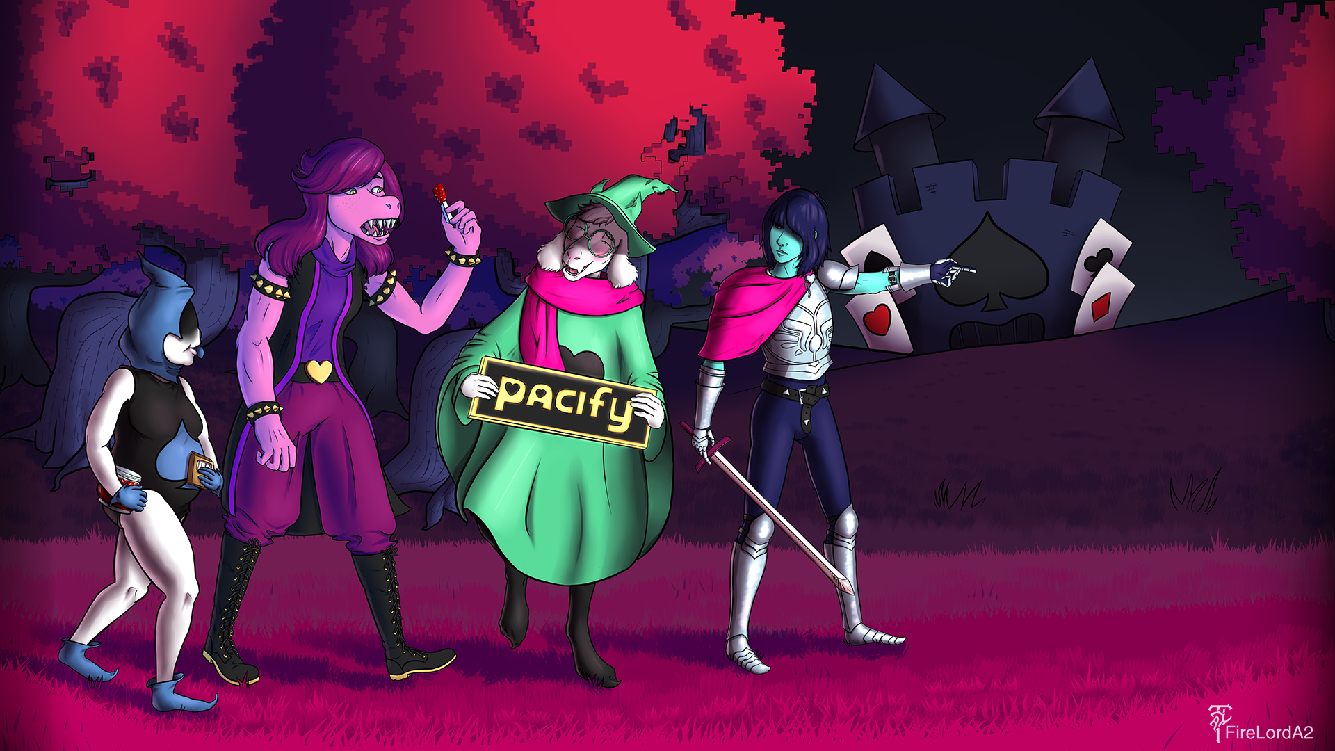 Done with my Deltarune Poster artwork this isnt the original 1920x1080