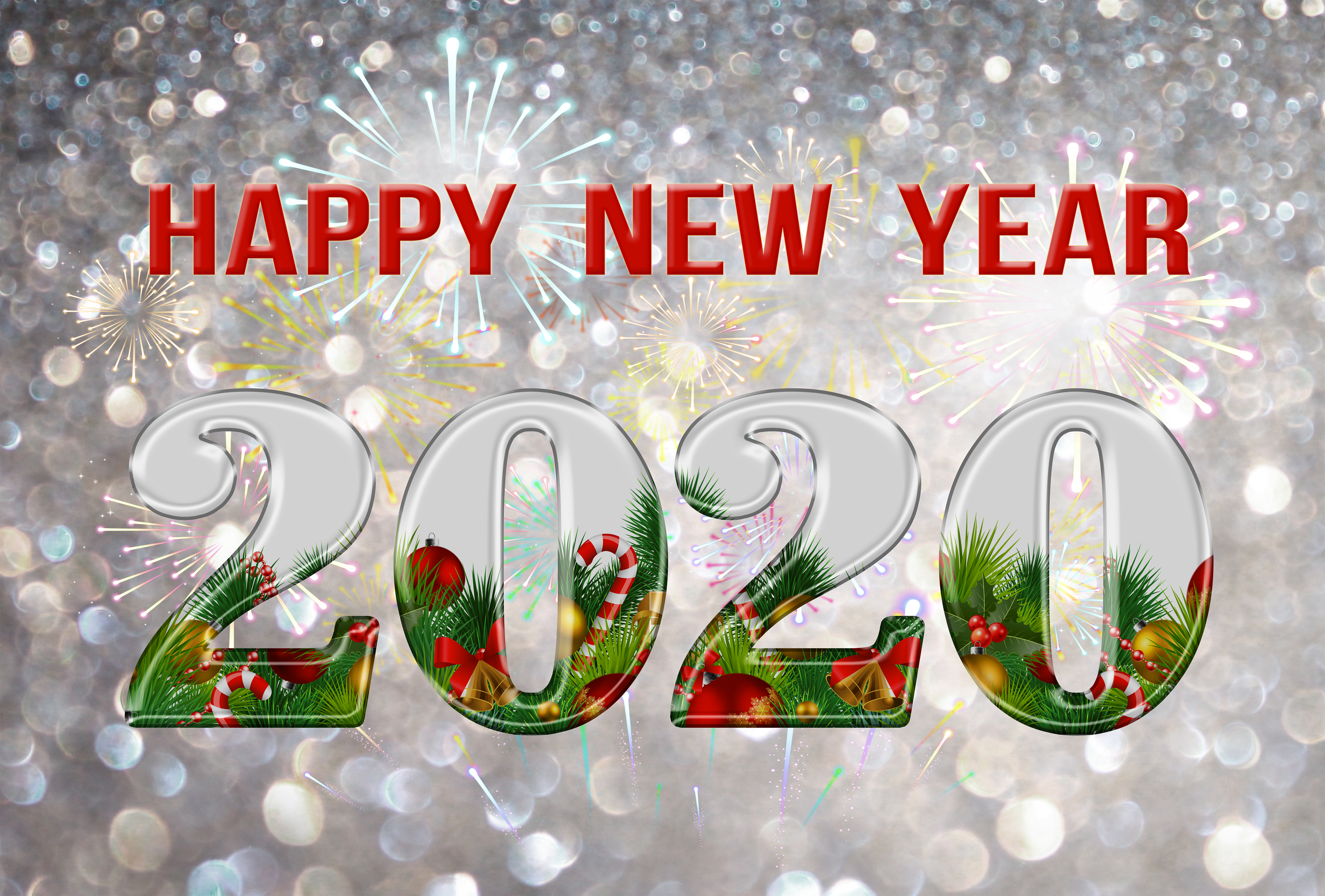 Happy New Year 2020 Background Gallery Yopriceville   High 5000x3381