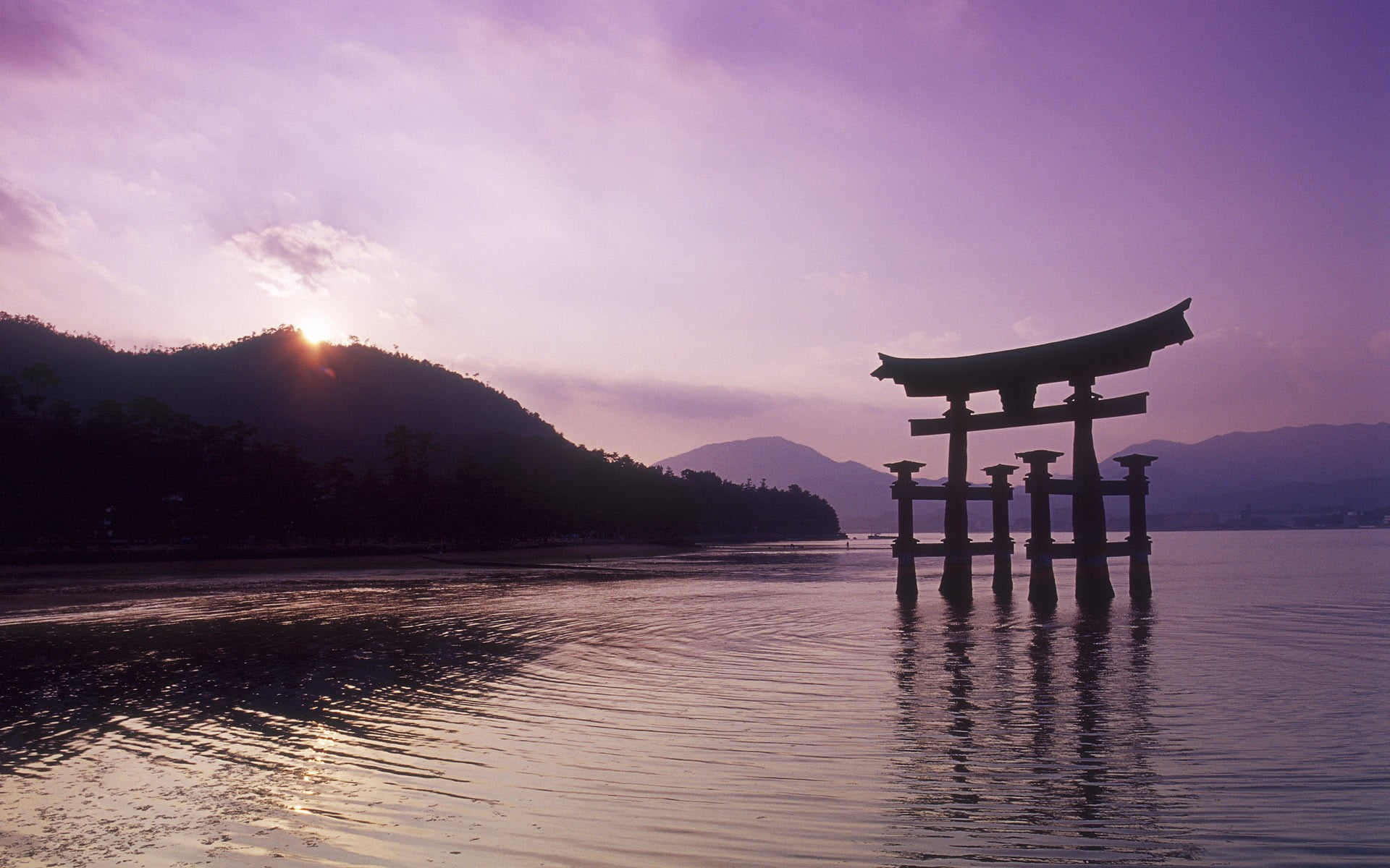 Itsukushima Shrine Japan Japan nature Miyajima HD wallpaper 1920x1200