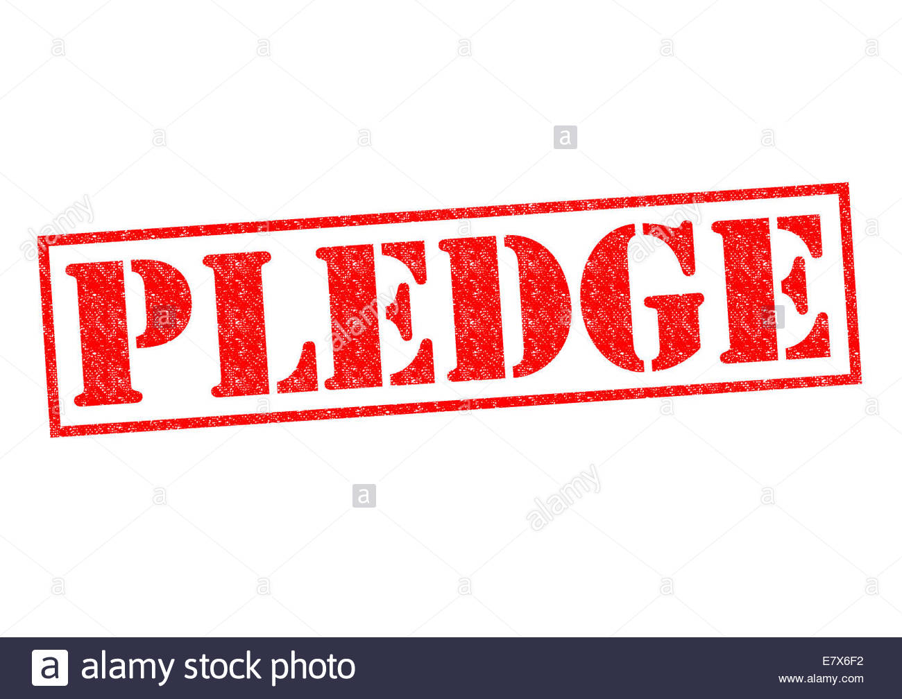 PLEDGE red Rubber Stamp over a white background Stock Photo 1300x1008