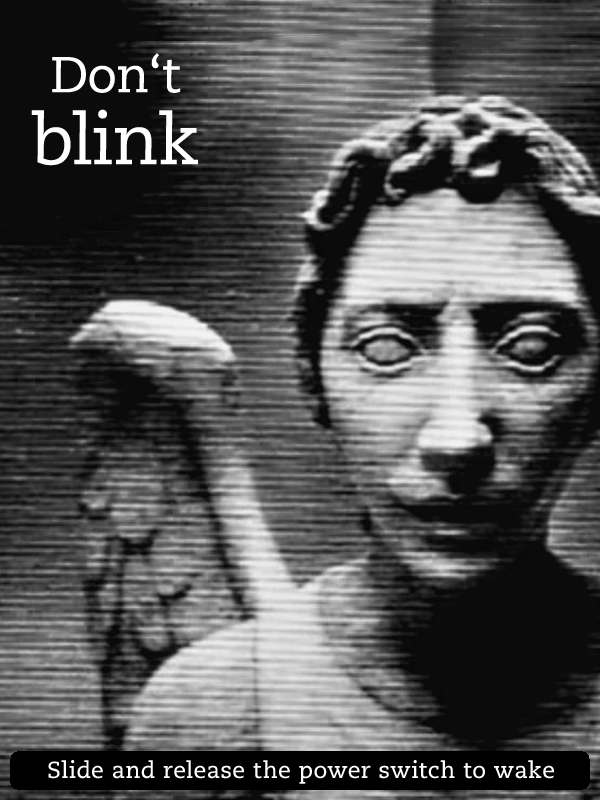 Kindle Screensaver Weeping Angel by SongOrSuicide 600x800