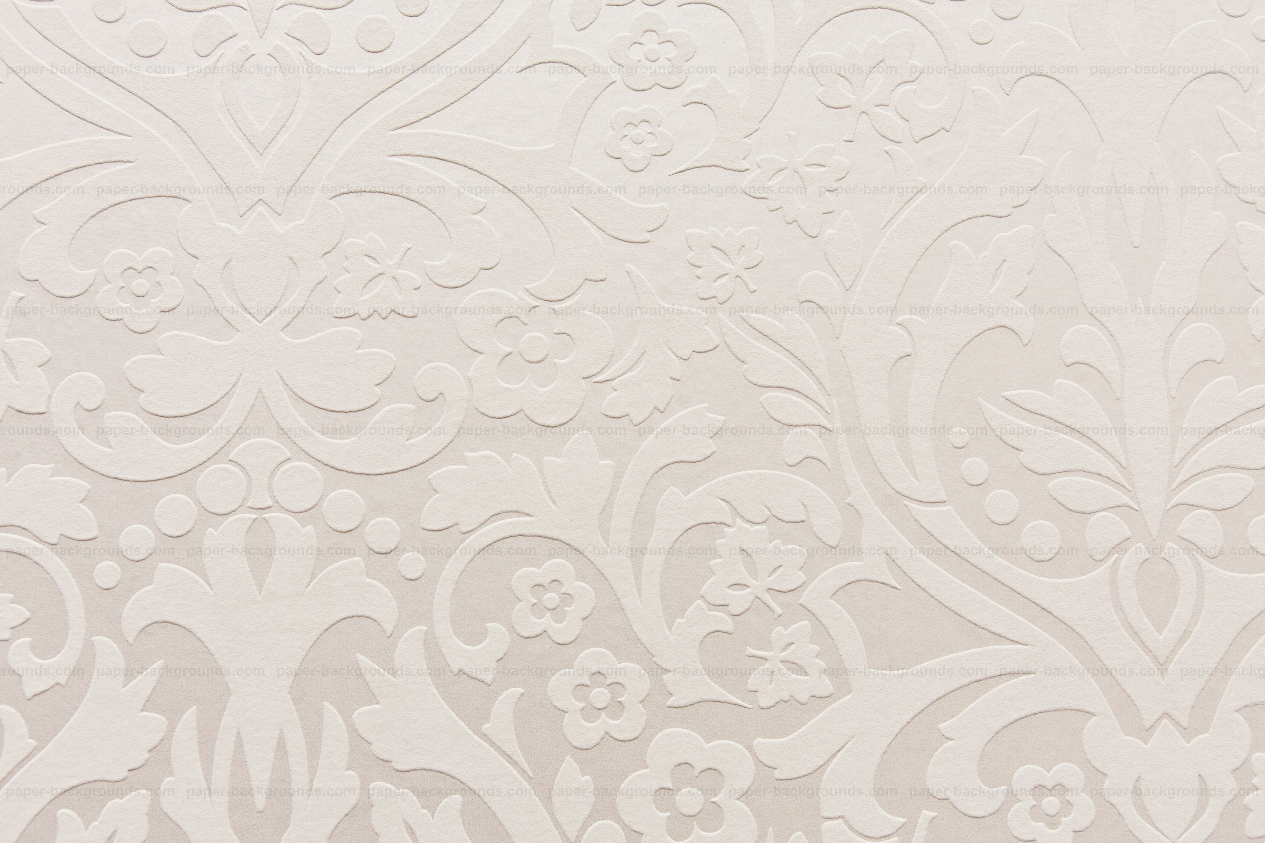 White Wall With Embossed Vintage Pattern Texture High Resolution 4096 4096x2731
