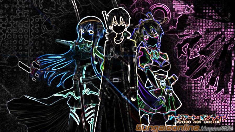 Asuna Kirito Lyfa Smartphone wallpapers edited manga studio Gun Gale 900x506