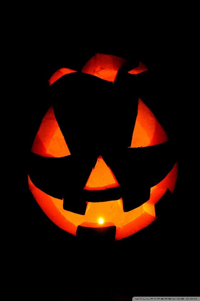 Pumpkin Wallpaper Iphone Halloween pumpkin art hd 640x960