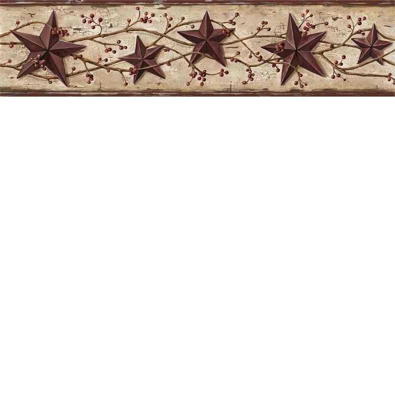 Brown Heritage Tin Star Wallpaper Border 800x800