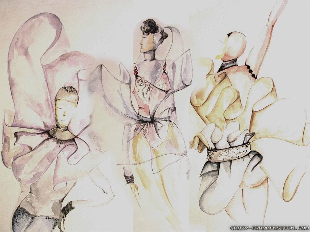 Fashion Sketch Wallpaper
