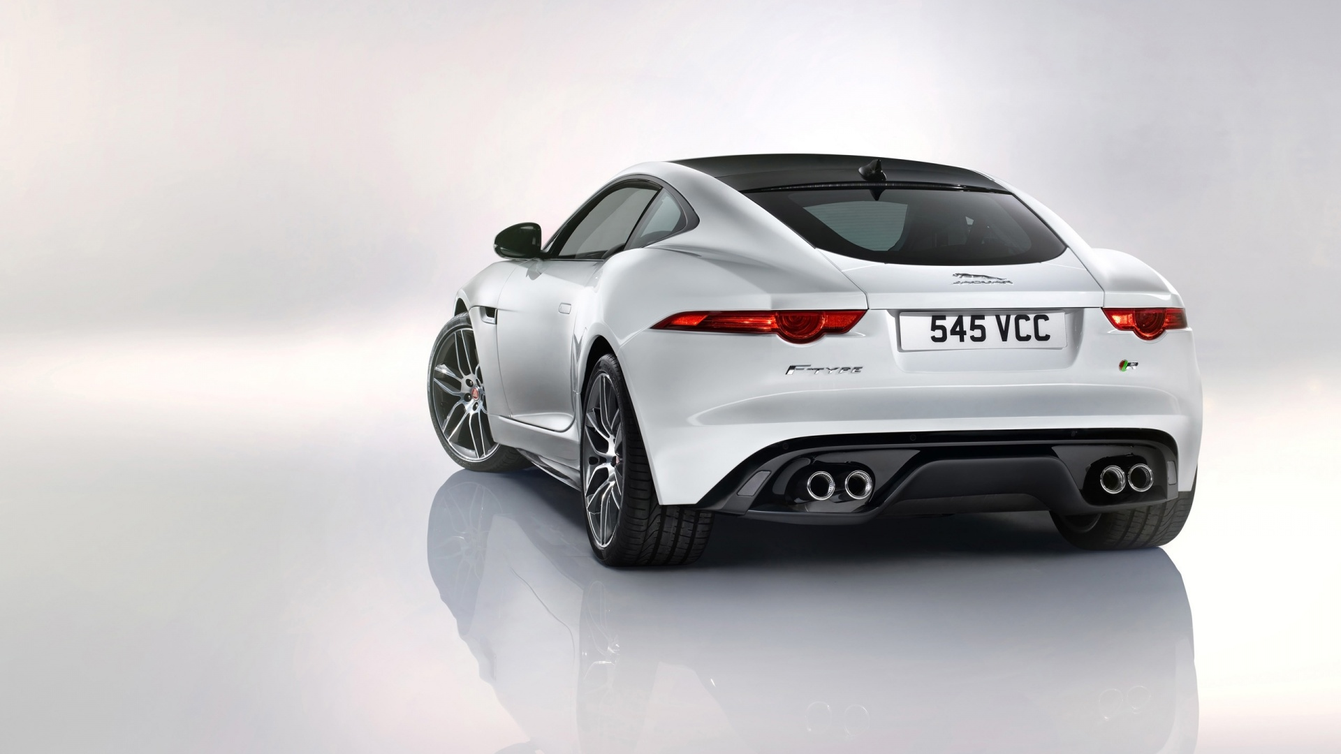 2014 Jaguar F Type R Coupe White 2 Wallpaper HD Car Wallpapers 1920x1080