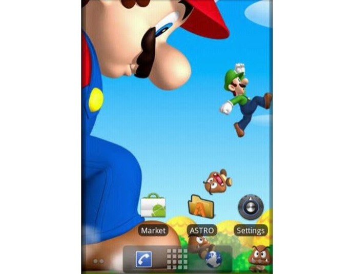 Super Mario Livewallpaper Android   Download 691x535