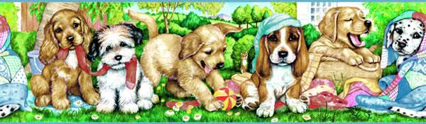 Puppy Dog Wallpaper Border Wallpapersafari