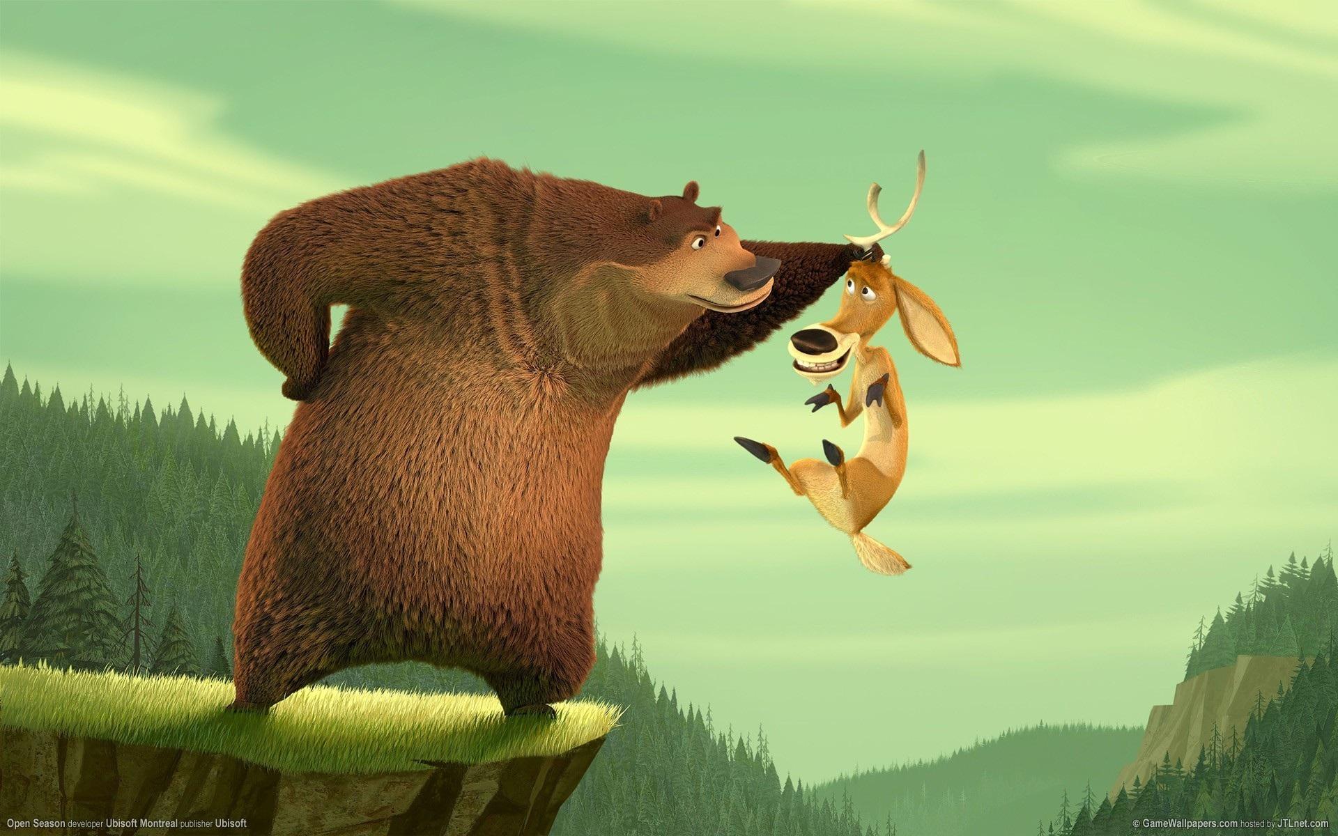 Open Season Bear Boog and Deer Elliot 20246 Good Wallpaperscom 1920x1200