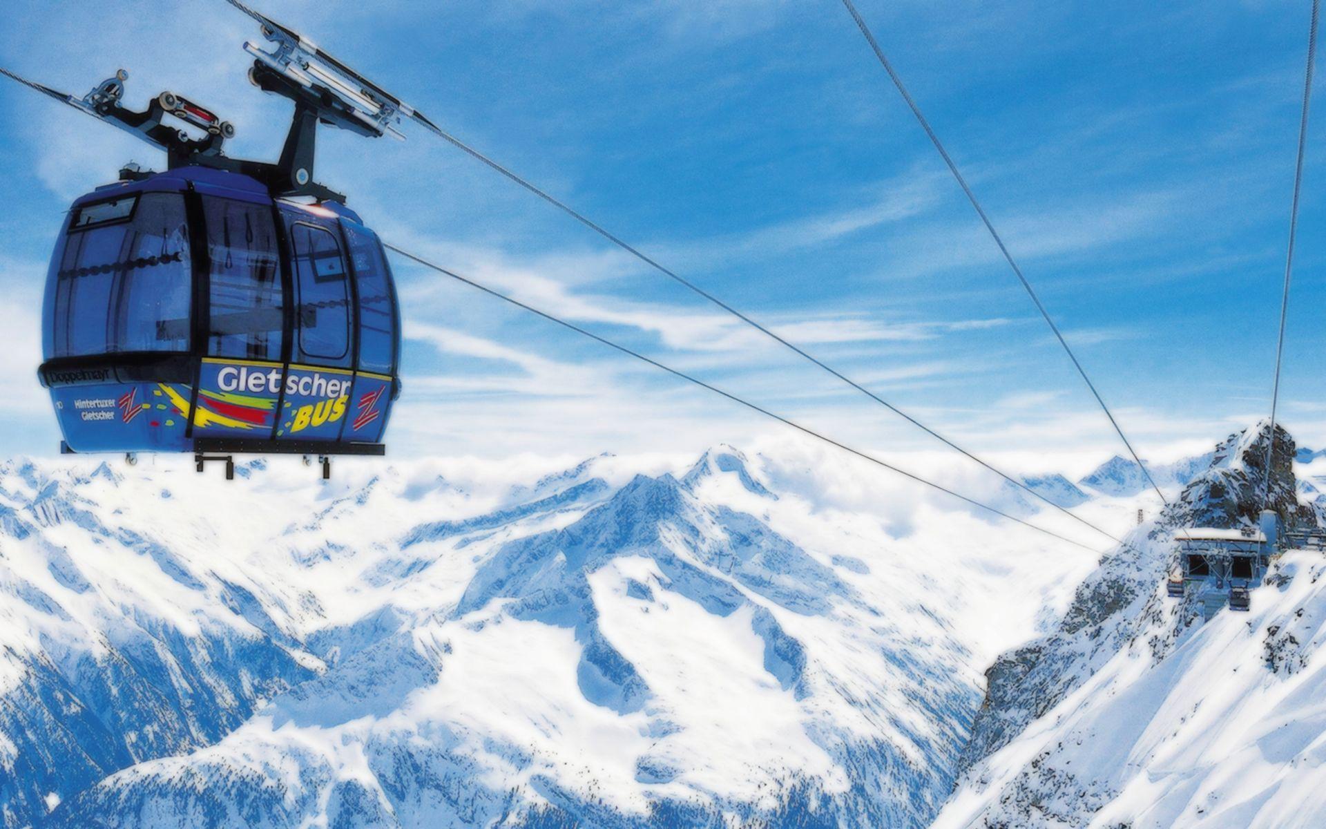 Cable car in a ski resort wallpaper 8975 1920x1200
