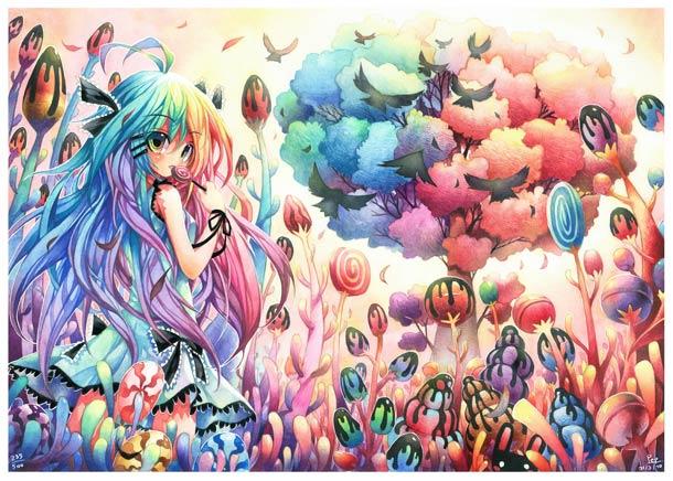 44 Anime Rainbow Wallpaper On Wallpapersafari