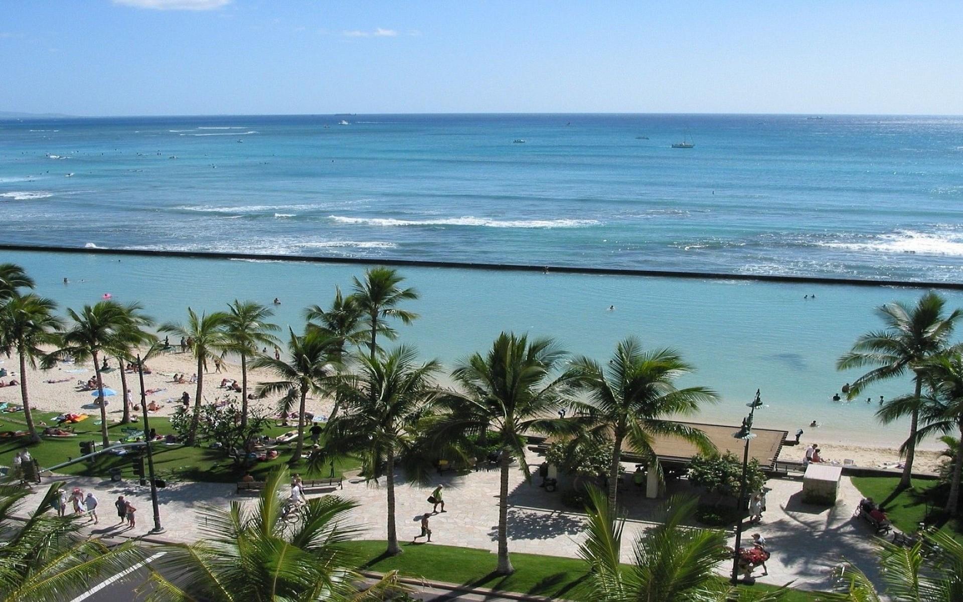 Hawaii   Hawaii Waikiki Beach Oahu Usa Hawaii Beach Oahu Hawaii 1920x1200