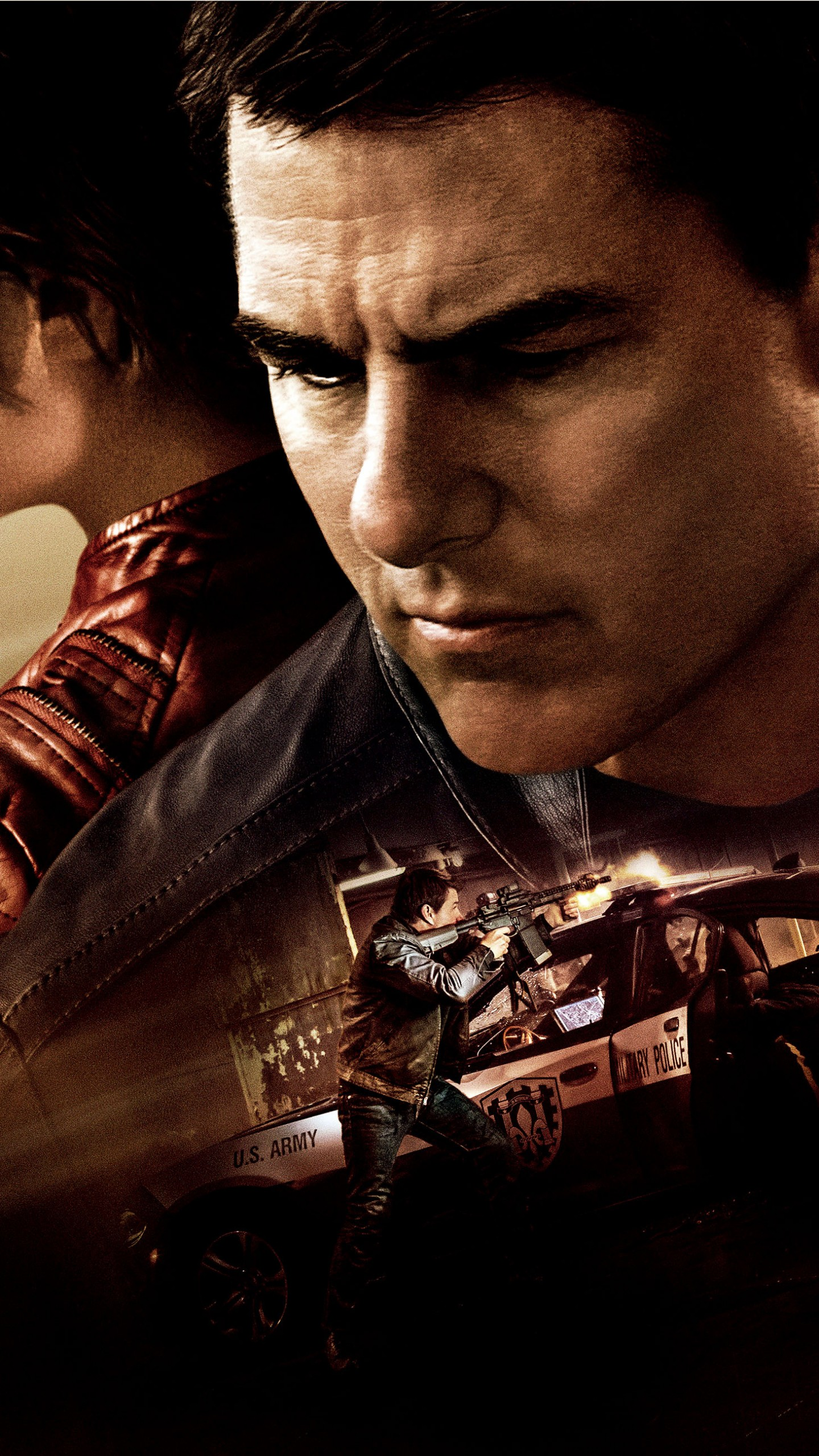 Wallpaper Jack Reacher Never Go Back Tom Cruise best movies 1440x2560