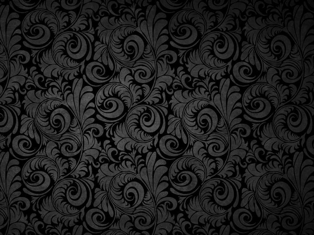 Free Download Black Floral Patterns Background Wallpaper For