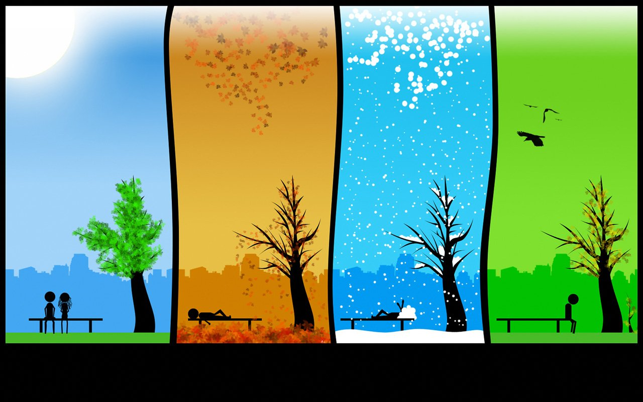 Four Seasons Backgrounds Desktop Image 1280x800