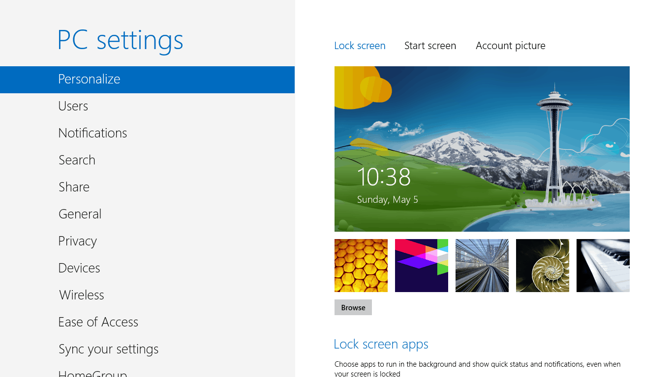 How to Change Lock Screen Background in Windows 8 TheUnlockr 1366x768