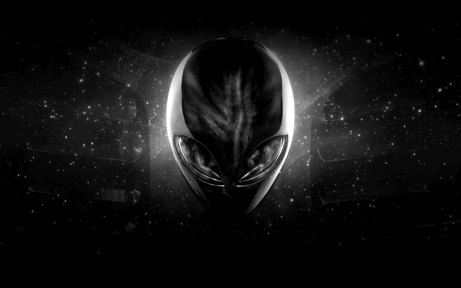 Black Alien Wallpaper 1600x1000