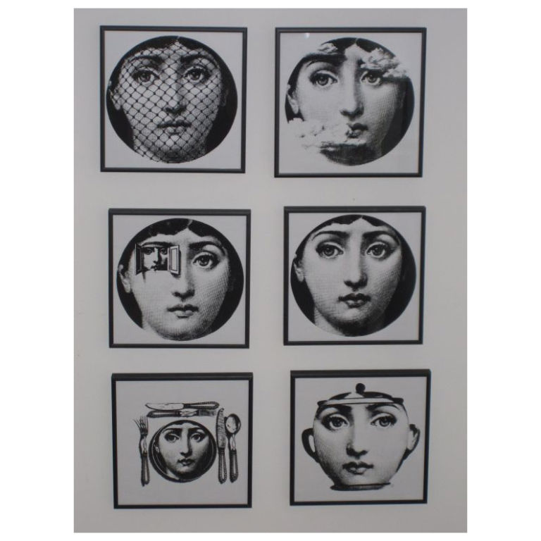 Set of Six Fornasetti Vintage Wallpaper Samples at 1stdibs 768x768
