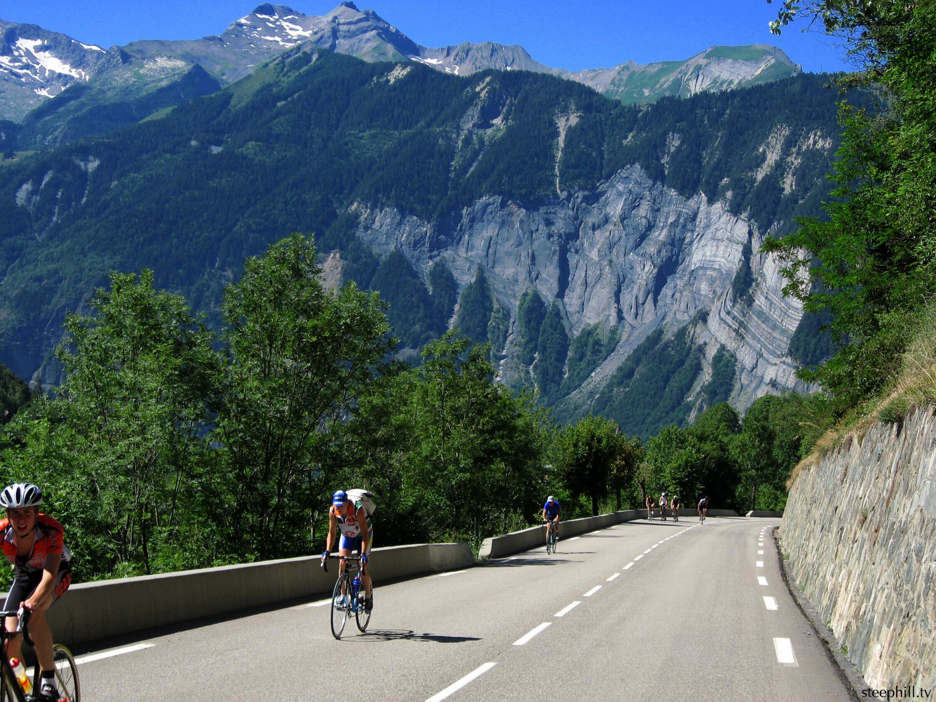 mountains sports roads cycling Tour de France alpe d 3098x2323