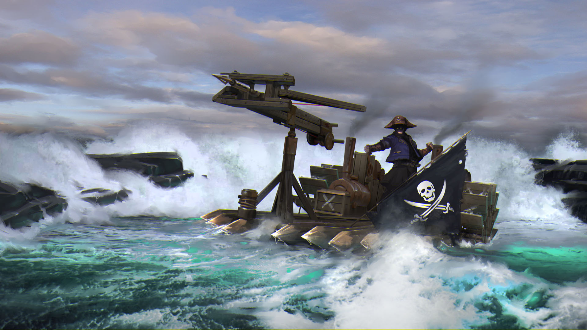 Pirate raft Wallpaper from Out of Reach gamepressurecom 1920x1080