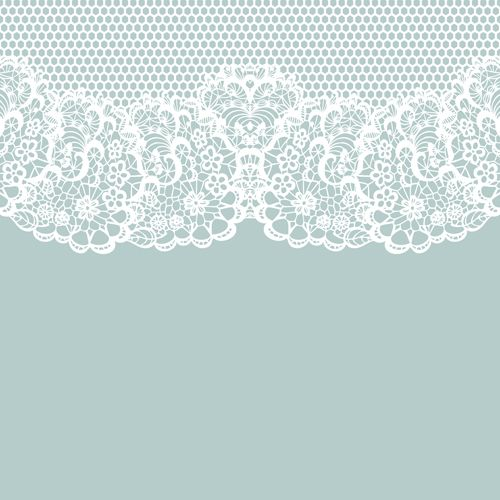 Elegant white lace vector background 02 Vector 500x500