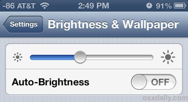 Change Screen Brightness Stop the Display Auto Adjusting on iPhone 620x339