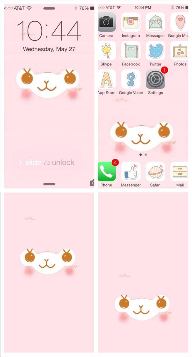 Alpacasso Facial Mobile Wallpaper PINK by JellysFancy 656x1218