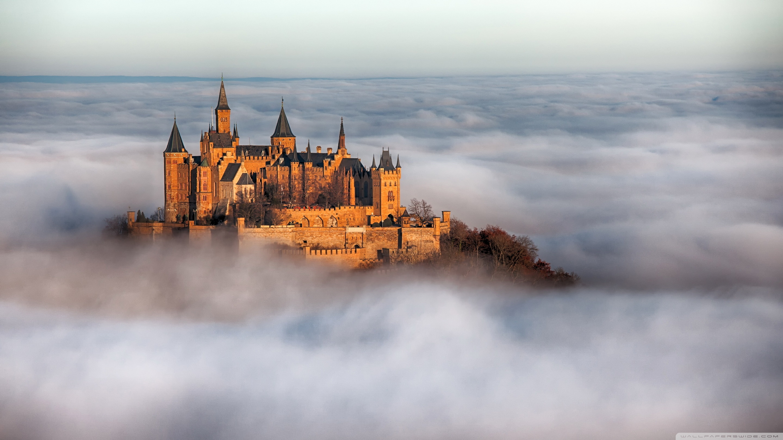 Hohenzollern Castle Fog Germany Ultra HD Desktop Background 2880x1620