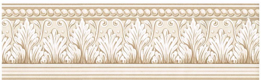 Victorian Tan Crown Moulding White Trim Wallpaper Border Wall eBay 1000x306