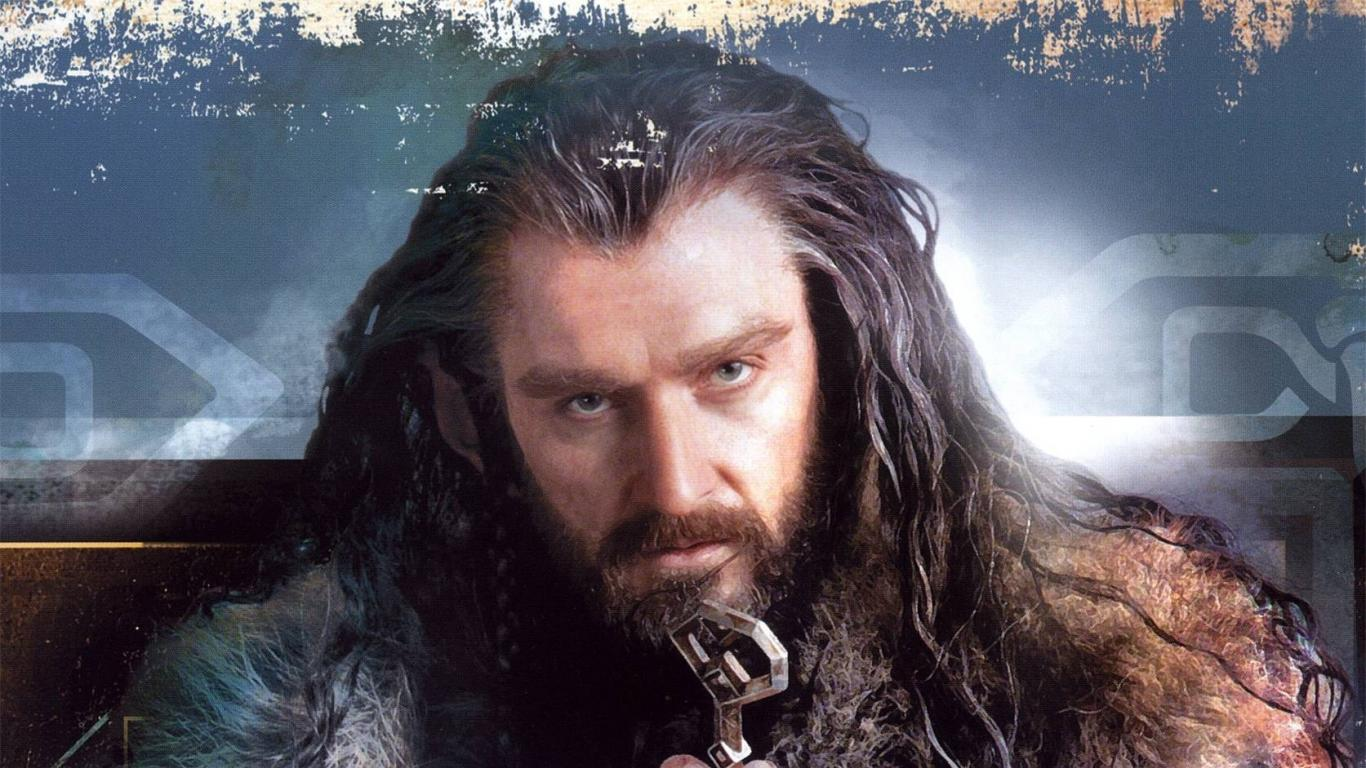 the hobbit artwork thorin oakenshield richard armitage wallpaper 1366x768
