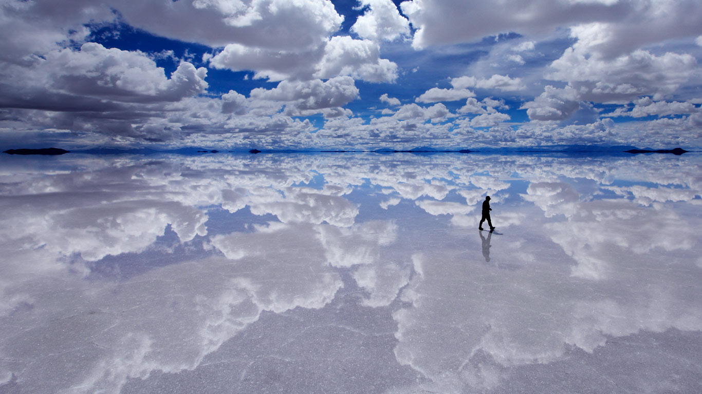 Salar De Uyuni Bolivia wallpaper by T1000 RevelWallpapersnet 1366x768