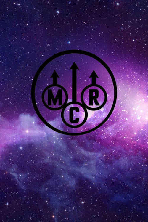 Me I Love Music And Bands Mcr Purple Galaxy Wallpaper We Heart It 500x750