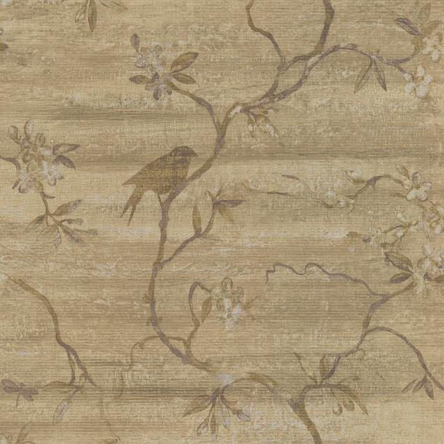 Corvus Light Brown Bird Tree Wallpaper   Traditional   Wallpaper   by 640x640