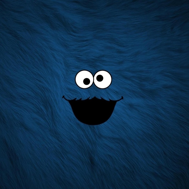 Cute lock screen Say hello to Cookie Monster every time you go on 736x736
